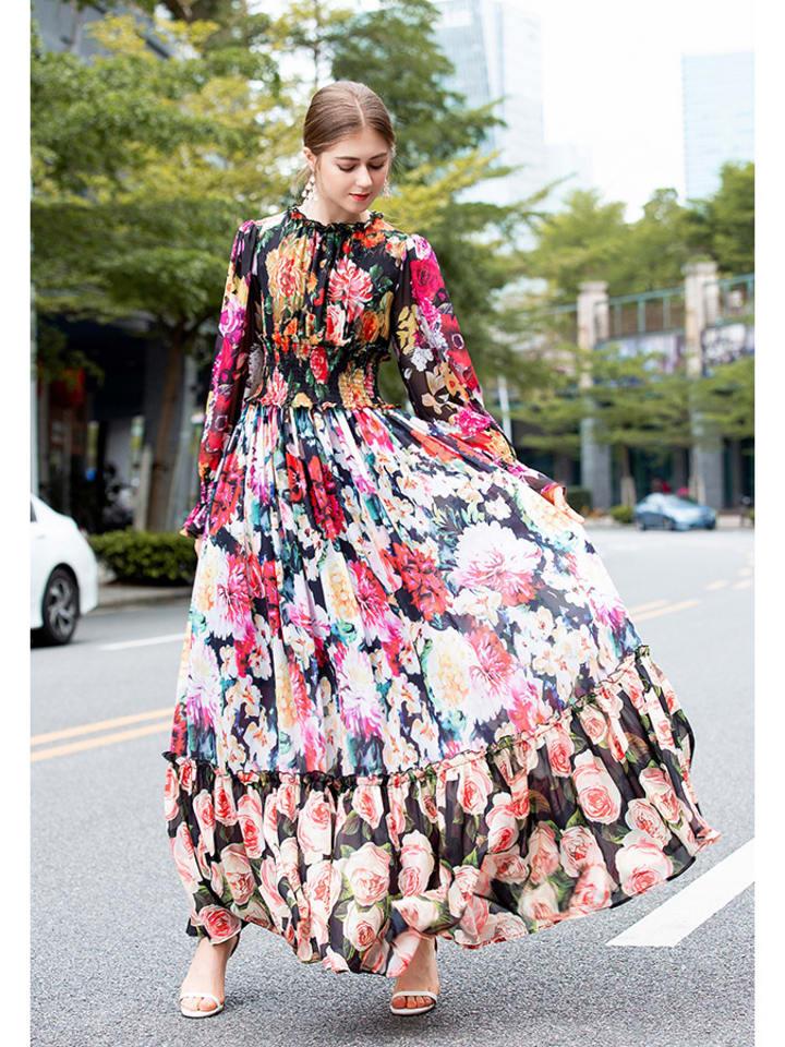 Sukienka W Kolorze Czarno Bialym Ze Wzorem Burryco Odziez Damska Limango Dresses Long Sleeve Bodycon Dress Maxi Dress