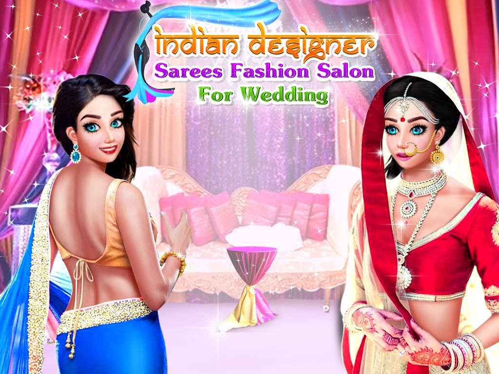Indiansarees Indiandesigner Every Girls Want To Look Gorgeous In Her Wedding So Let S Help Indiangirl By Doing Tons Of Makeover Activities In This Salo