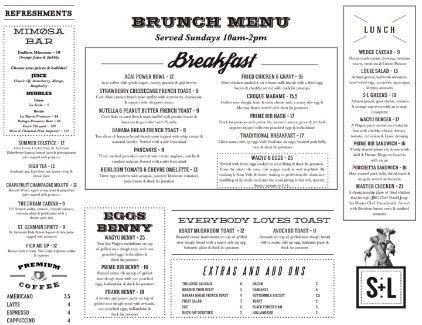 S L Kitchen Bar Presents Sunday Brunch Club Sunday Brunch Club Takes Place Every Sunday From 10am 2pm Beginning May 8th 2016 At S L Kitchen Bar Langle