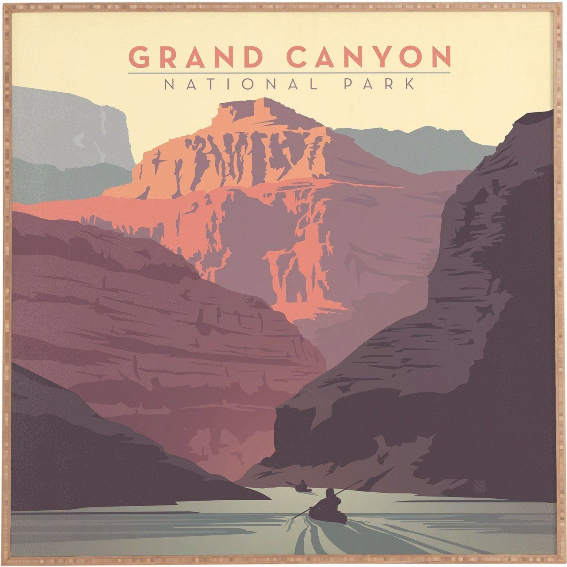 Deny Designs Anderson Design Group Grand Canyon National Park Framed Wall Art National Park Posters Vintage Travel Posters Retro Travel Poster