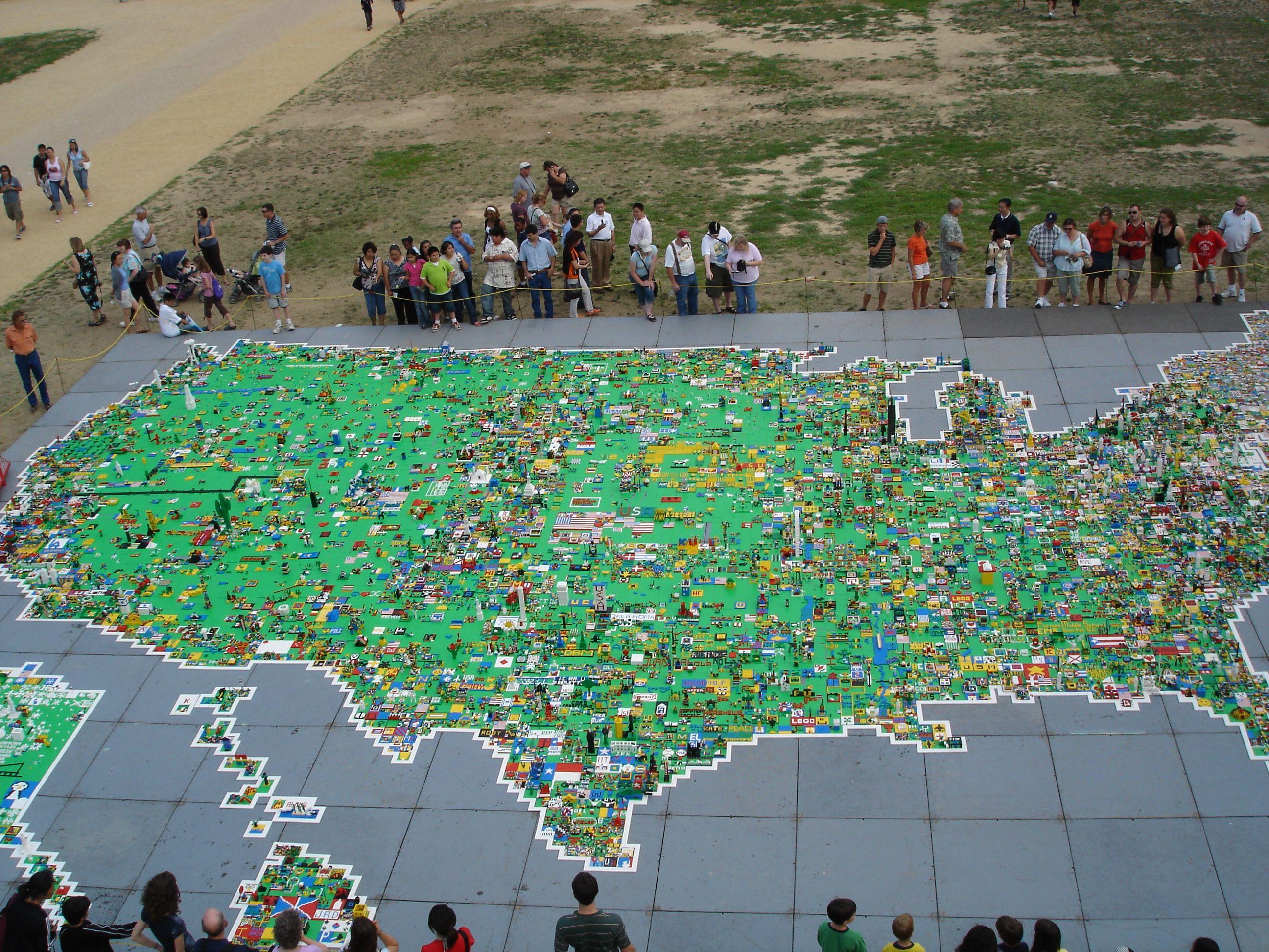 Gigantic Lego Map Of The United States Created During The World - Washington dc map conspiracy