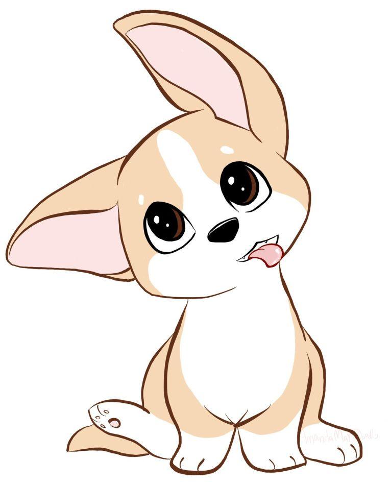 Corgi Illustration Cute Animal Drawings Kawaii Cute Dog Drawing Cute Drawings