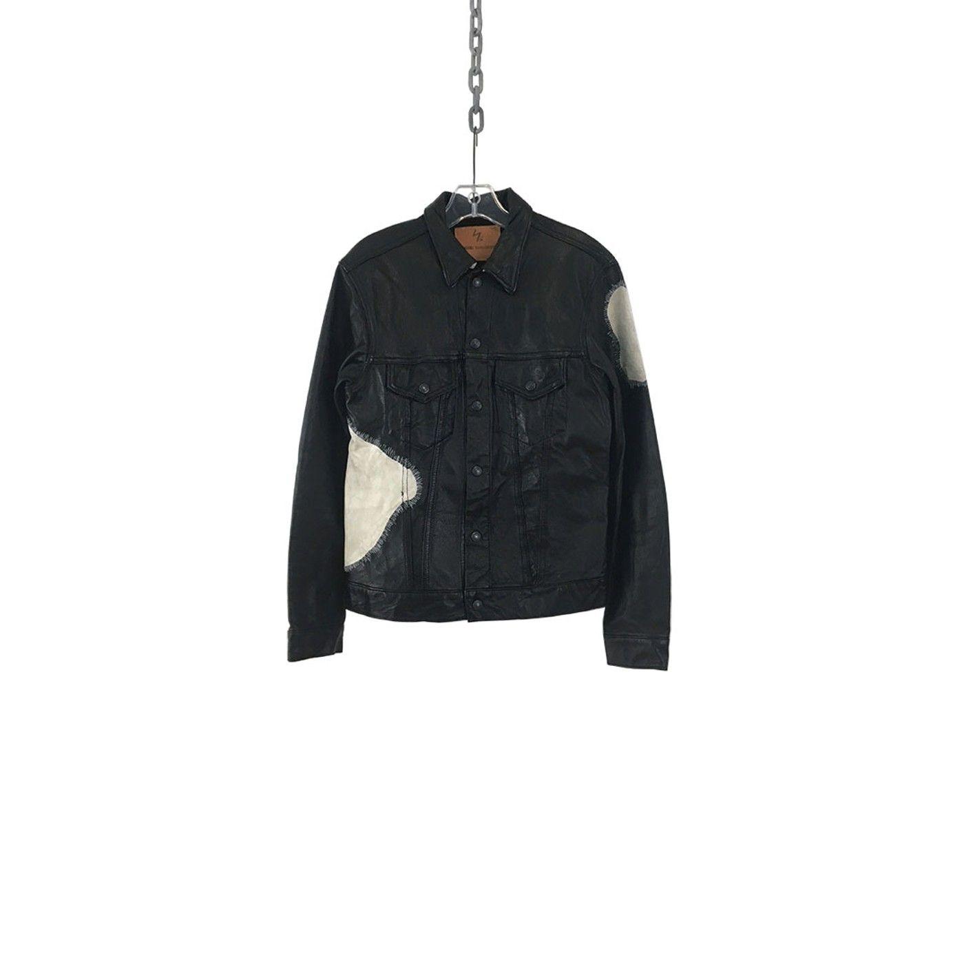 Yohji Yamamoto Cow Patch Leather Jacket Grailed Leather Jacket Jackets Yohji Yamamoto [ 1400 x 1400 Pixel ]