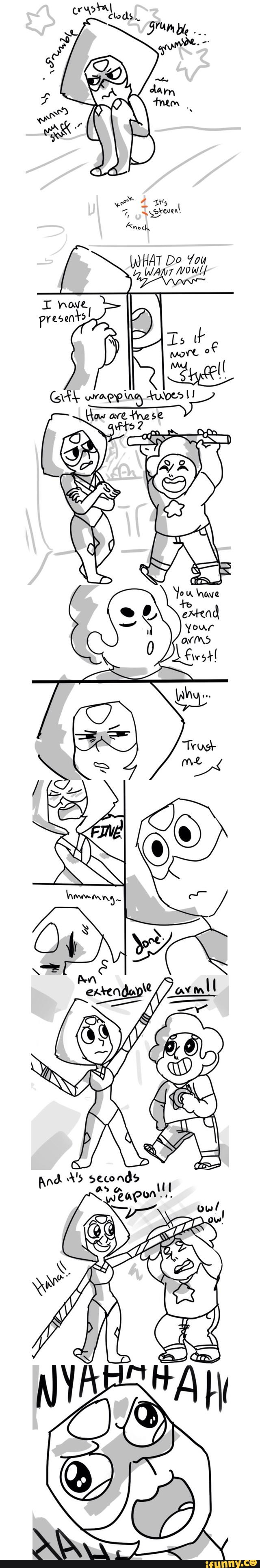 stevenuniverse, peridot I bet Steven will feel bad for her and do something like this as replacement limb enhancers