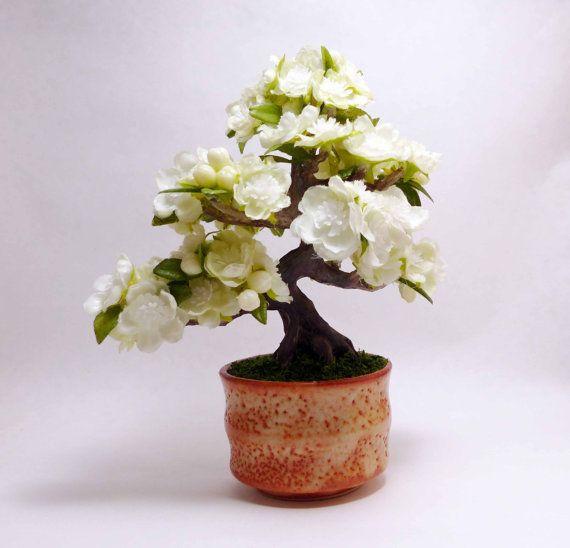 Artificial Bonsai Miniature Cherry Blossom Bonsai Bonsai Etsy Cherry Blossom Bonsai Tree Cherry Blossom Tree Cherry Blossom Flowers