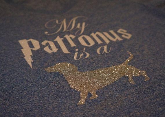 Harry Potter Inspired My Patronus Is A by BibbityBobbitees on Etsy #doxie #wienerdogs #dachshundlover