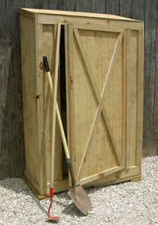 Free Woodworking Project Plans: Tool Shed | Garden tool ...