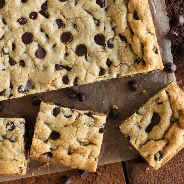 9 desserts Chocolate chips ideas