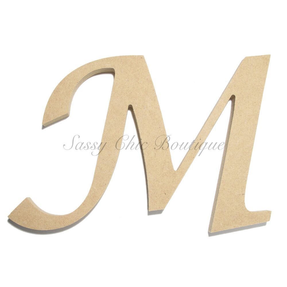 inch Unfinished Wooden Letter - Uppercase
