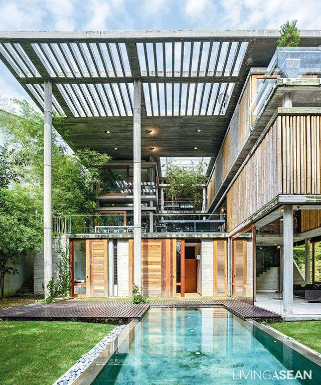 Contemporary Tropical House Tanga House: MODERN TROPICAL BAMBOO HOUSE BY LIVINGASEAN SEPTEMBER 22
