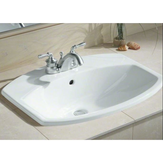Cimarron Ceramic Rectangular Drop In Bathroom Sink With Overflow Drop In Bathroom Sinks Bathroom Sink Sink