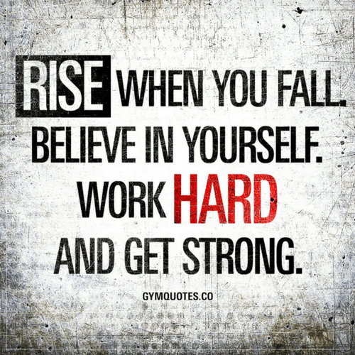 Superb Believe In Yourself Quotes Rise When You Fall. Believe In Yourself. Work  Hard And Get Strong.