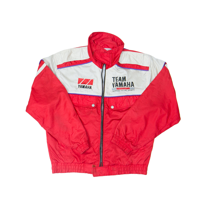 Rare Vintage 80s Yamaha Team Racing Motorcycles Windbreaker Jacket Red Denim Jacket Vintage Jacket Windbreaker Jacket