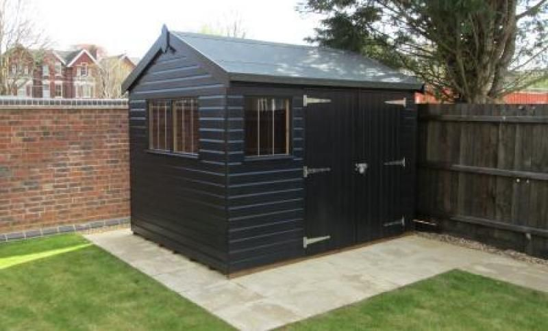 Superior Garden Shed In Black Sikkens Paint Our Customers In