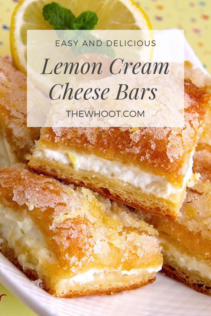 5 Star Rated Lemon Cream Cheese Bars Recipe | The WHOot