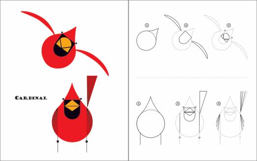 charley harper artist birds   Harper Sketchbook: How to Draw 28 ...