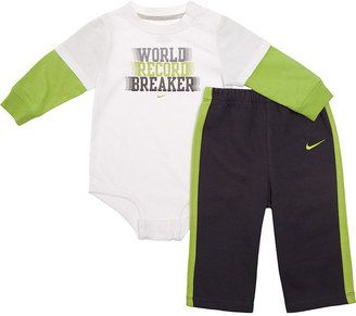af2df9bd7e ShopStyle: Nike Baby Set, Baby Boys Faux-Layered Bodysuit and Pants ...
