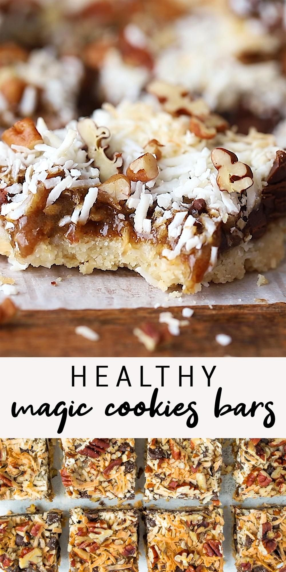 Photo of Healthier Magic Cookie Bars (Vegan + Gluten-Free)