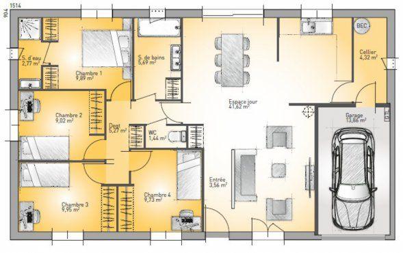 Plan maison neuve à construire - Maisons France Confort Open Plain ...