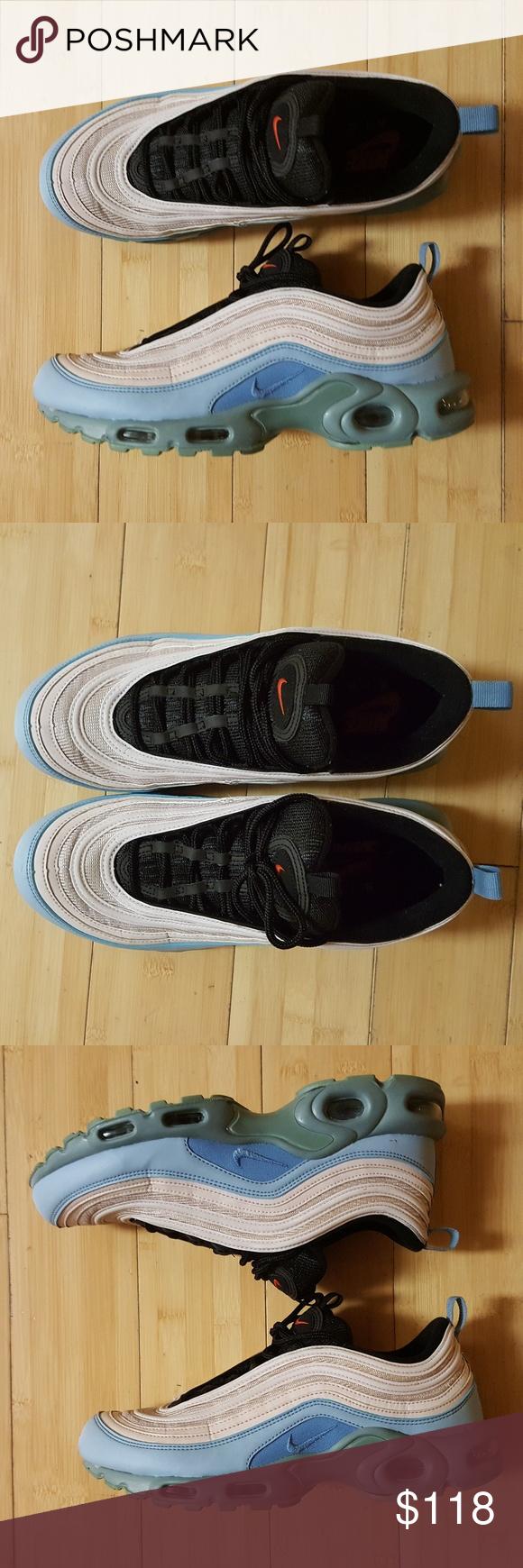 Nike Air Max Plus TN 97 BLACK 100%AUTHENTIC Men Running