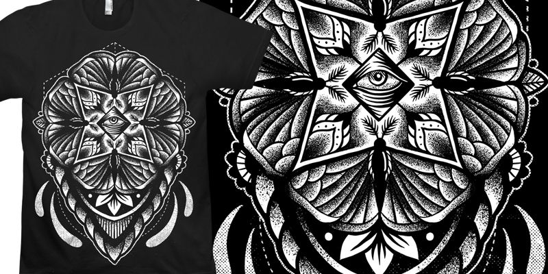 """Mothdala"" t-shirt design by Cutty."