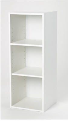 Closetmaid 898700 Stackable Storage Organizer White Laminated Finish