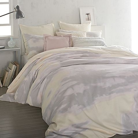Turn Any Bedroom Into An Inviting Oasis Of Painterly Beauty With The Dkny Mirage Duvet Cover