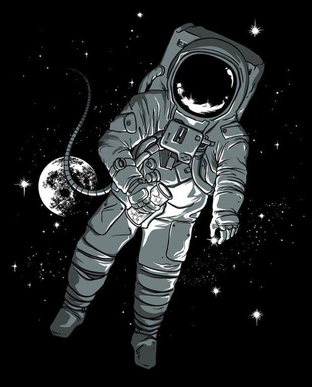 Картинки с космонавтом арт