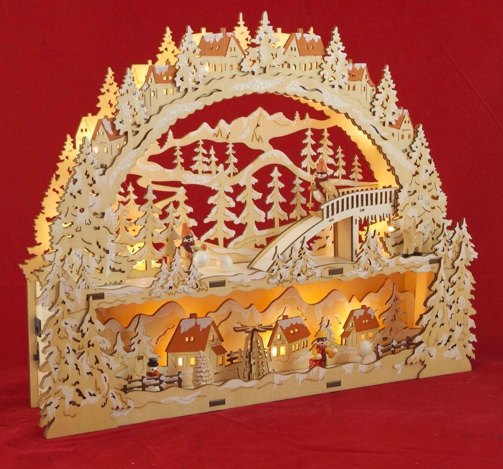 LED Schwibbogen mit Podest inkl. Trafo  Ski  Schwippbogen, Leuchter Weihnachten