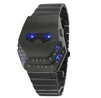 2016 Moonliza  Luxury Snake Led Watch Stainless Steel Fashion Men Binary Digital Sport Watch For Men ML0532