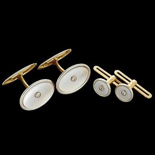 2503. Manschettknappar och skjortknappar guld