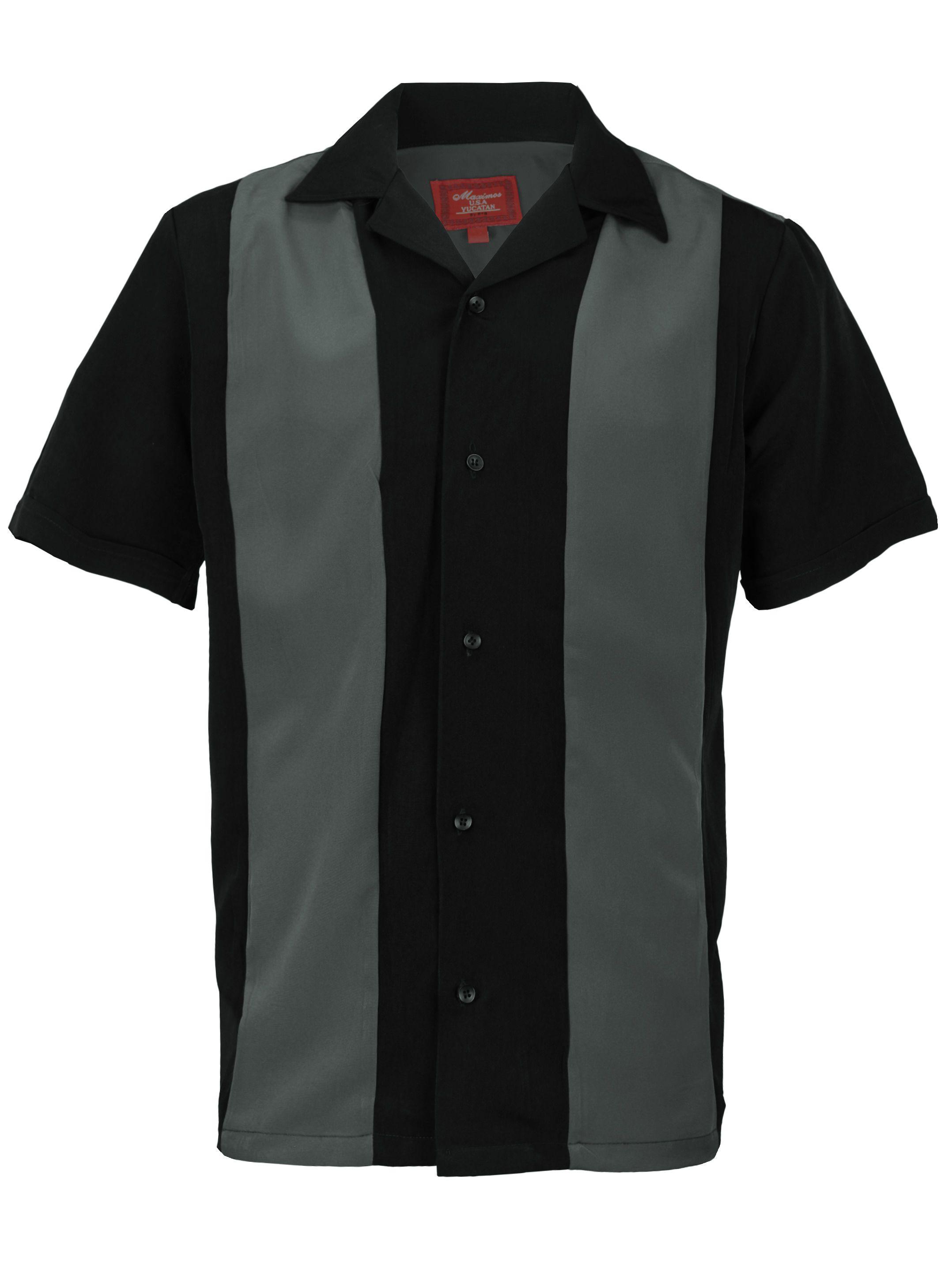 Men S Retro Charlie Sheen Two Tone Guayabera Bowling Shirt Walmart Com In 2021 Shirt Dress Casual Bowling Shirts Mens Clothing Styles [ 2875 x 2156 Pixel ]