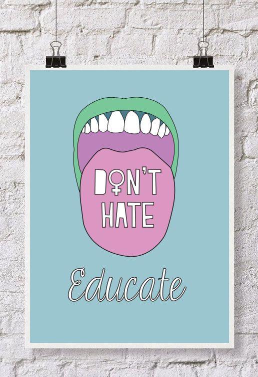 Feminist Illustration Poster Feminist Quotes Feminist Words