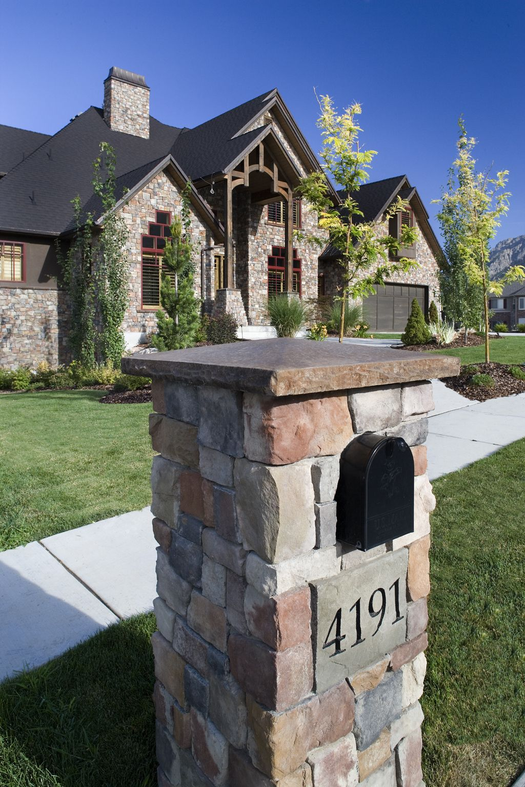 Stone your mailbox and your home. | Mailboxes | Pinterest | Stone ...