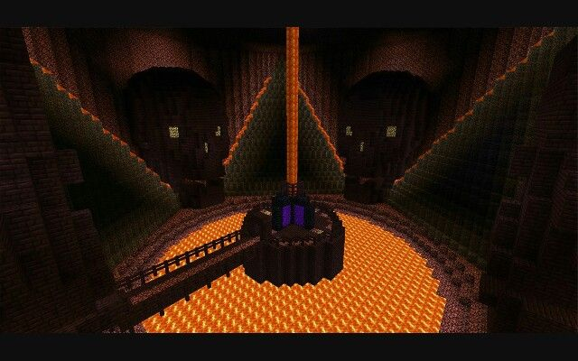 Nether Portal Room Great Idea If You End Up In Lava You Can