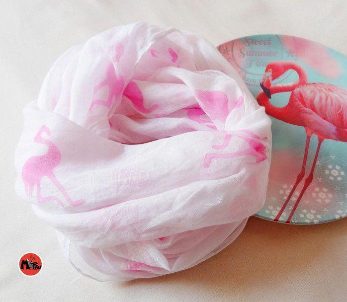 Loop Flamingo Handbedruckt Von Motte By Monte Klamotte Auf Dawanda Com Etsy Flamingos Bedrucken