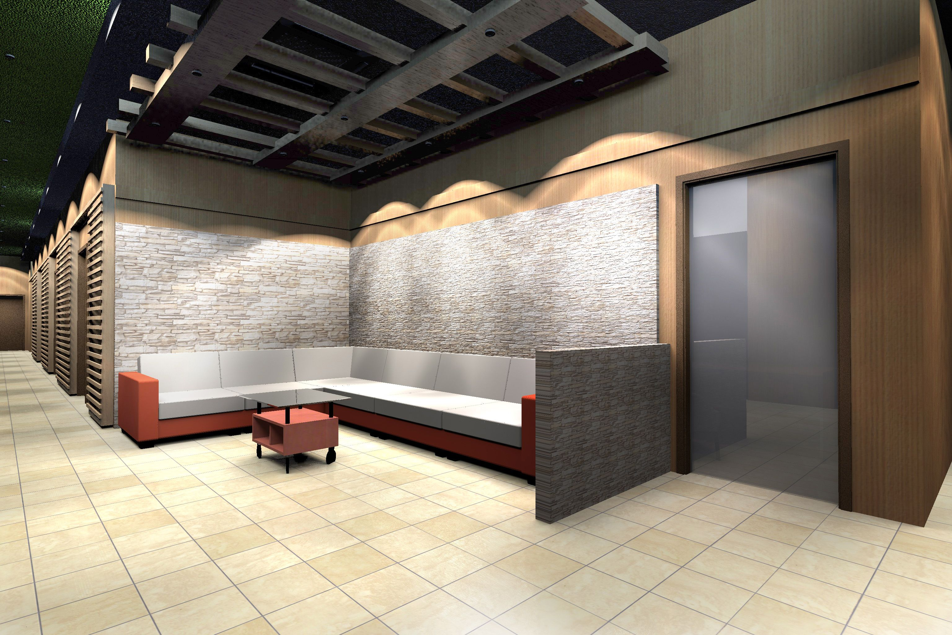 Soothing Spot Spa Interior Design Proposal. Waiting Area