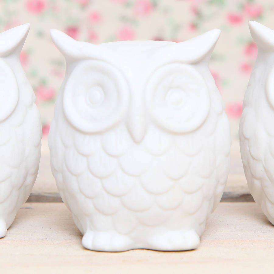 Ceramic Owl Decoration | Owl decorations, Owl and Decoration