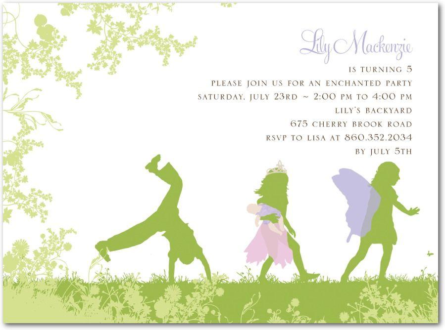 Fairy Parade Itu0027s Party Time Pinterest Holiday invitations - fresh birthday party invitation ideas wording