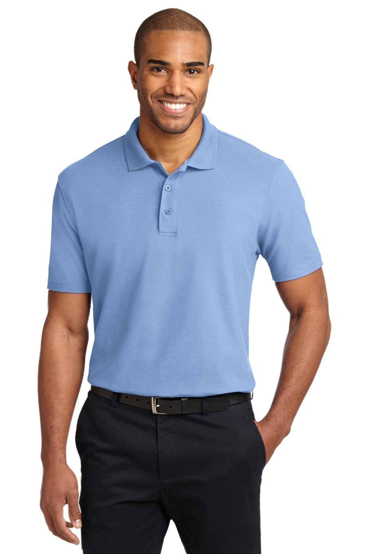 Port Authority Stain-Resistant Polo. K510 Light Blue