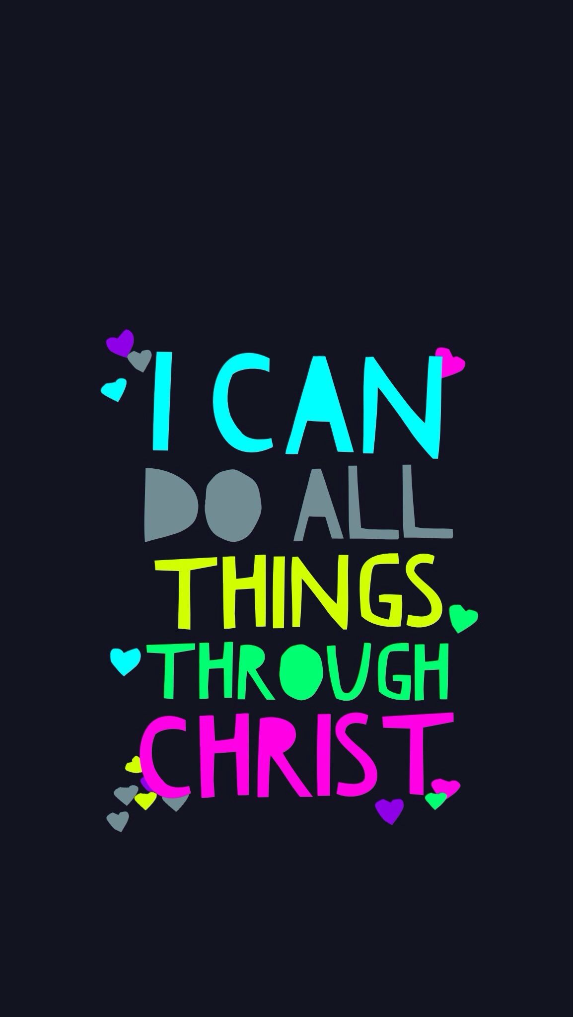 Hd wallpaper quotes for android - Philippians 4 13 Iphone 5 Wallpaper