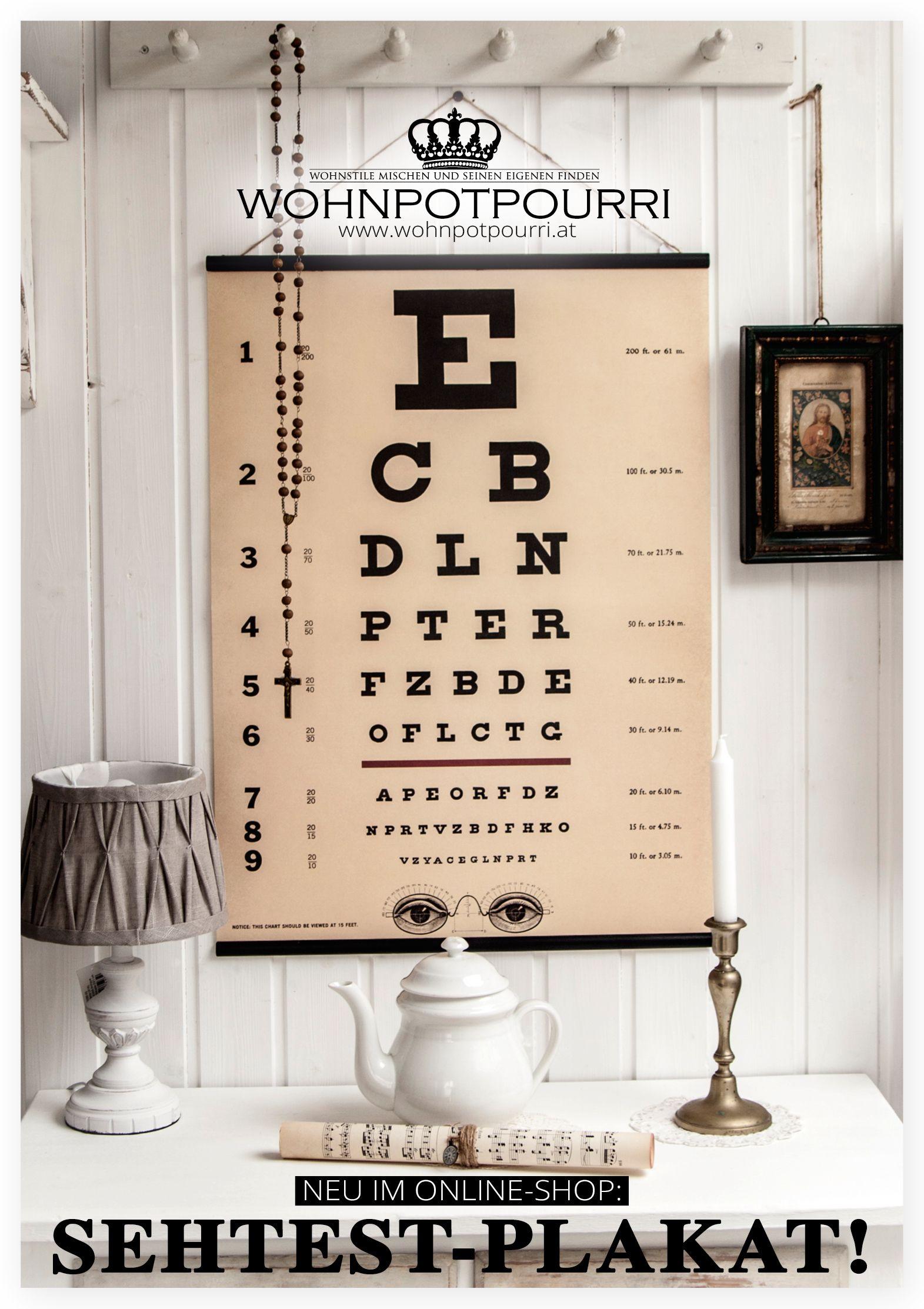 sehtest plakat www. Black Bedroom Furniture Sets. Home Design Ideas