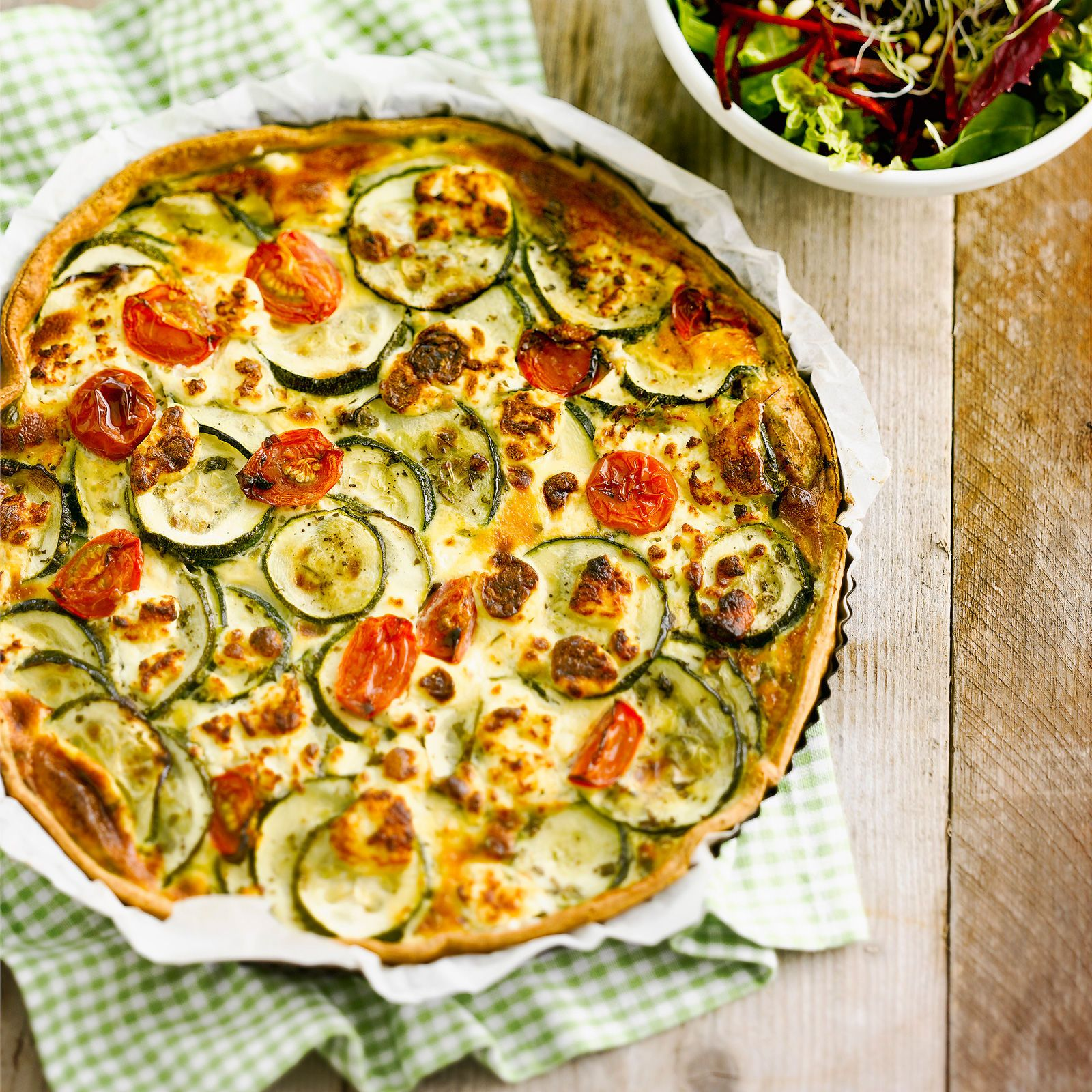 137d419736db8 Quiche courgette chèvre