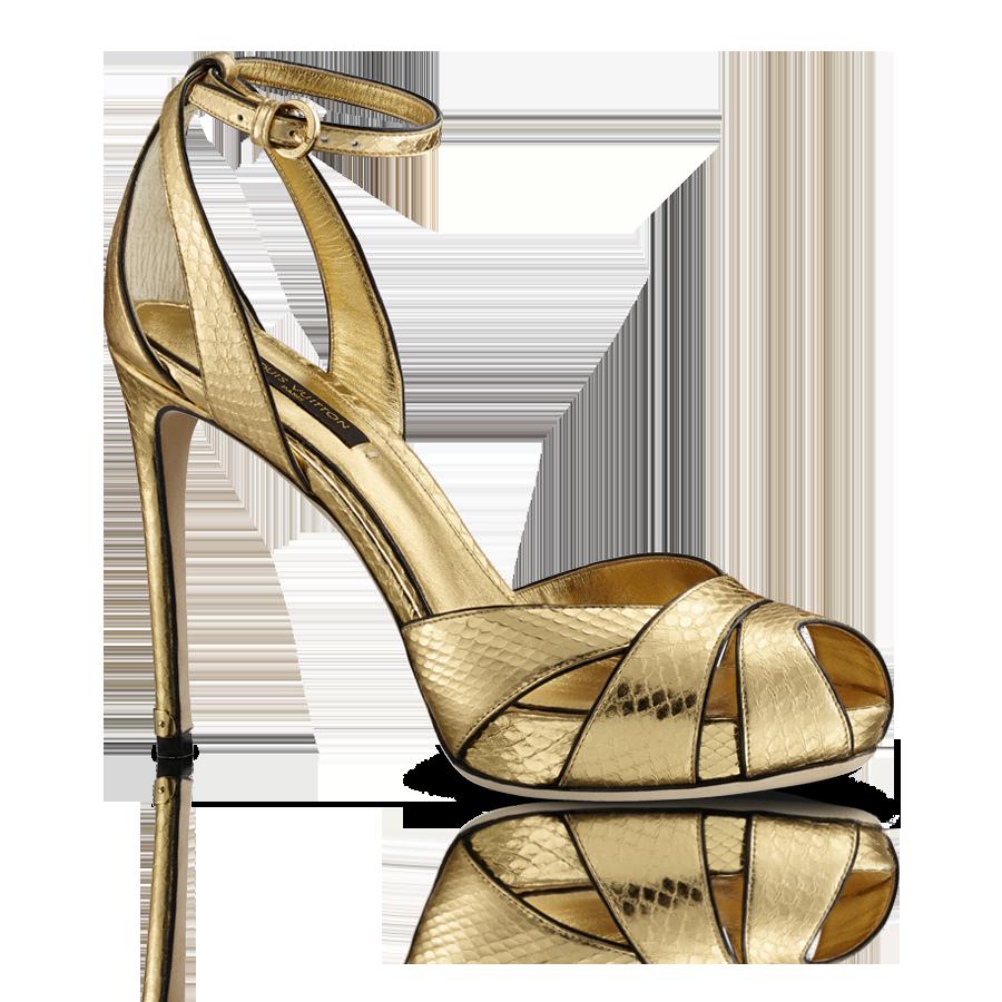Shiny Sandal Louis Vuitton fashion resort travel Gold