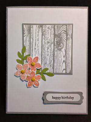A Petite Petals and Hardwood Birthday Card
