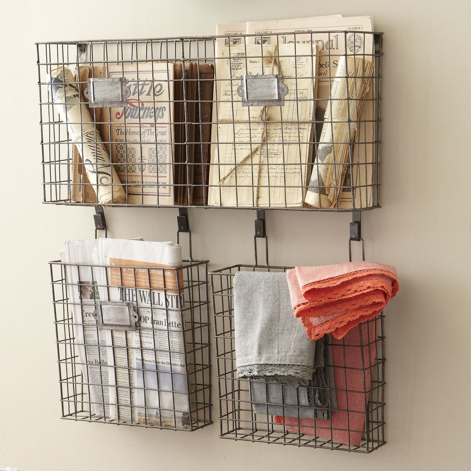 Birch Lane Wire Basket Wall Organizer Baskets On Wall Wall Organization Wire Baskets