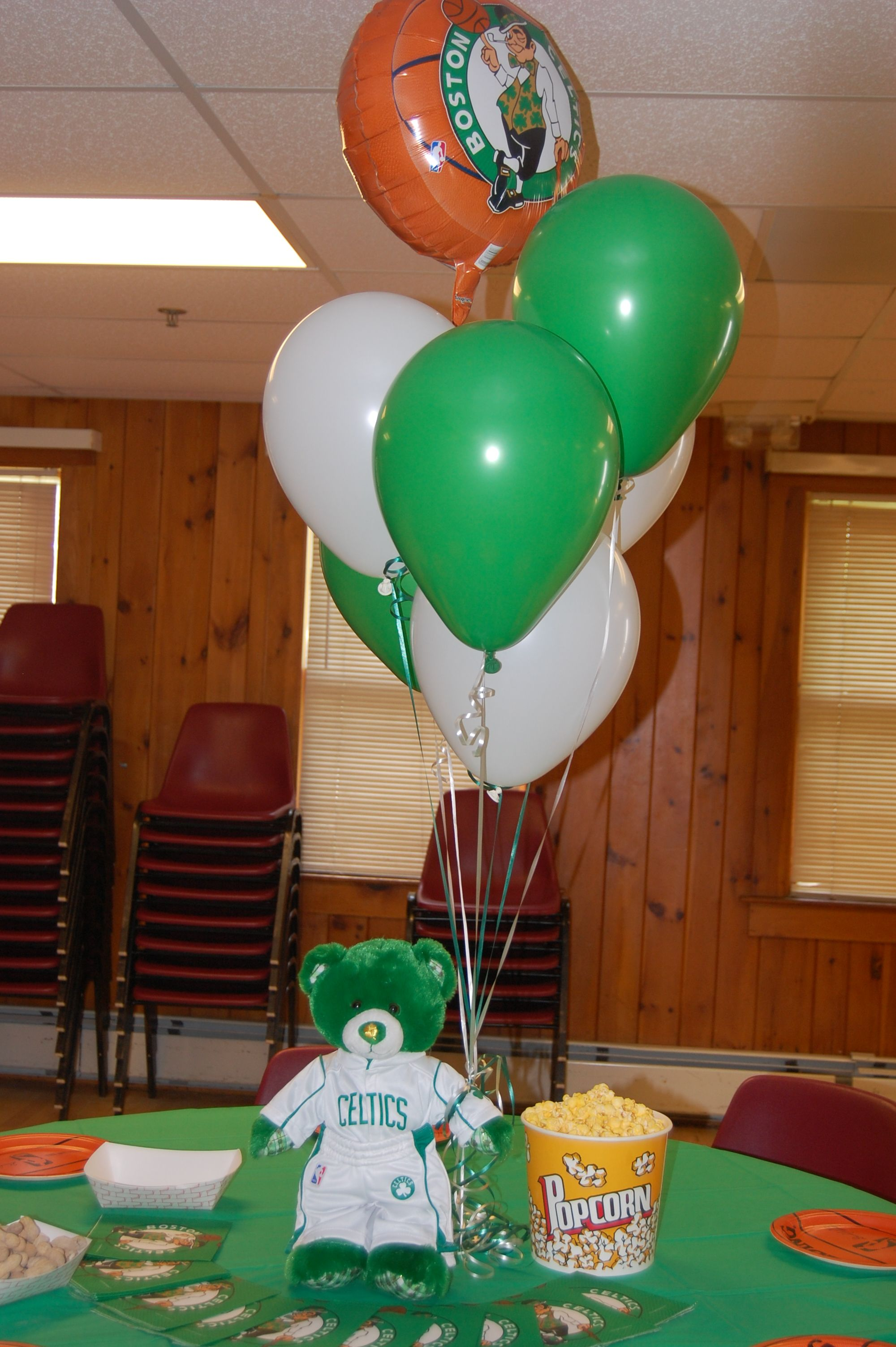 Boston Celtics Table Sports Theme Party