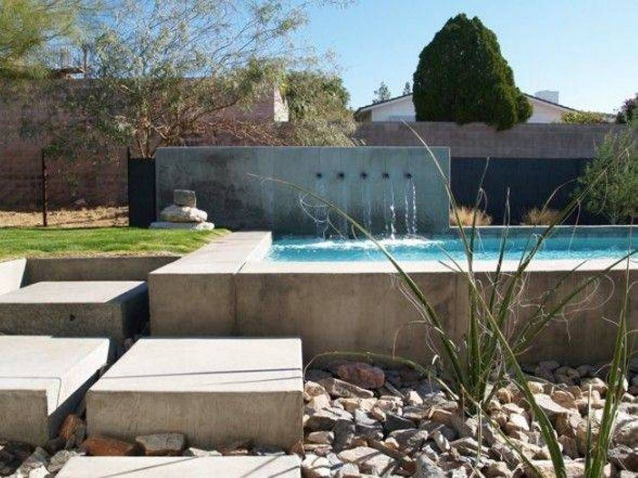 Landscaping And Outdoor Building Above Ground Modern Pools Modern Pools Above Ground With Waterfalls Modern Pools In Ground Pools Pool Landscaping