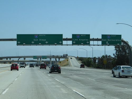 Junction Of Interstate 15 And Interstate 10 Ontario California