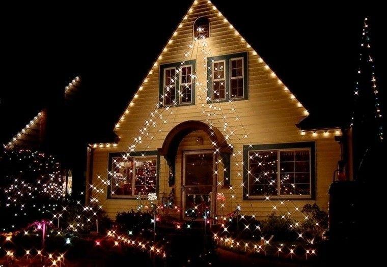 Iluminacion exterior decoracion navidea con luces